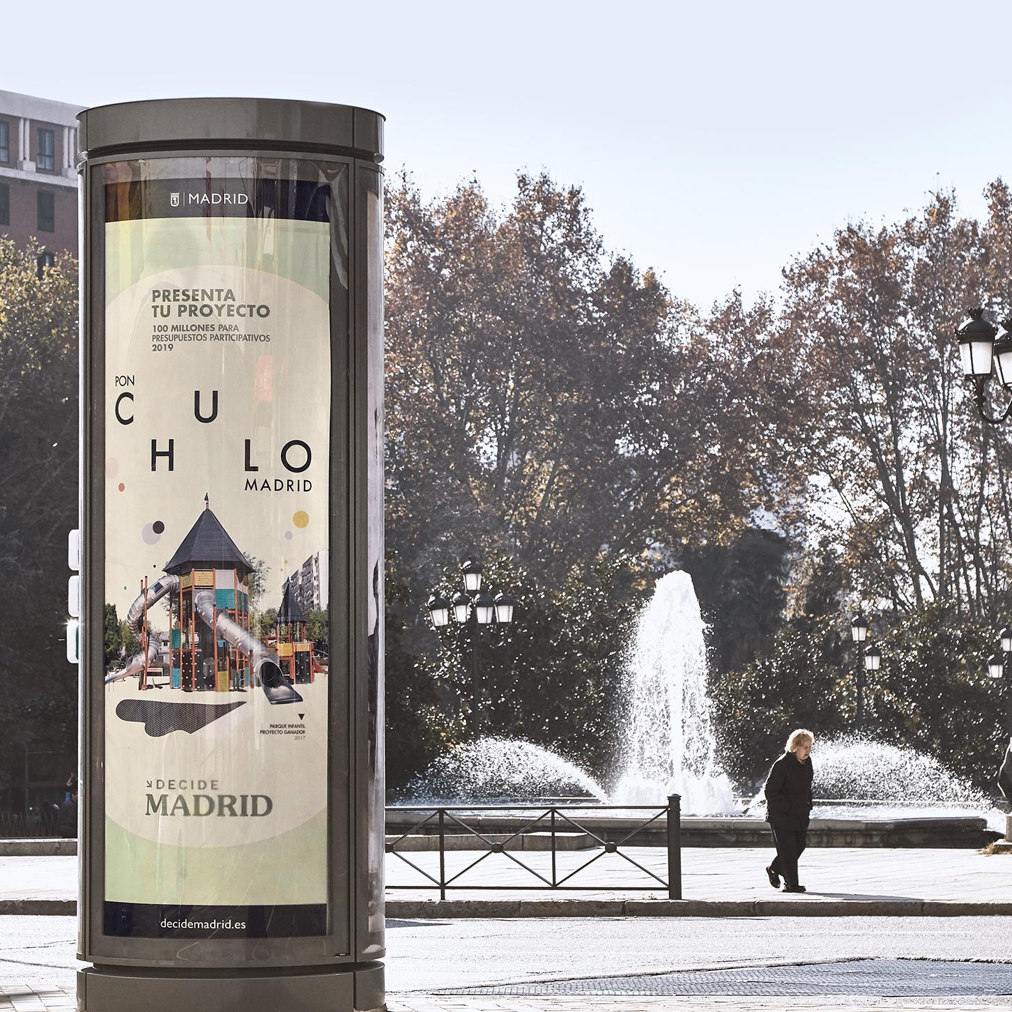 """AYUNTAMIENTO DE MADRID<br>""""PON CHULO MADRID"""""""